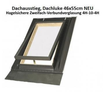 Dachausstiegsfenster Dachluke für Kalträume 46cm x 55cm / Doppelverglasung