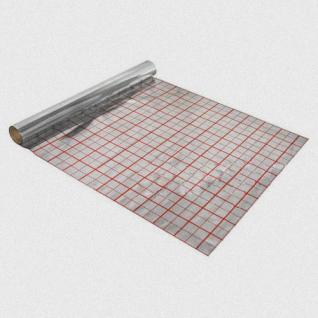 Gittermatte / Alufolie / Rasterfolie 50m² für Fußbodenheizung