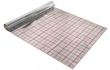 Gittermatte / Alufolie / Rasterfolie 50m² für Fußbodenheizung / Stärke 105µm