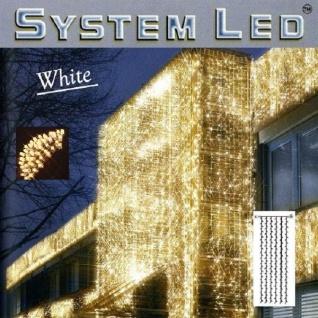 System LED Lichtervorhang 204er 1x4m warmweiß - weiß außen 466-56-14 xmas