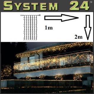 System 24 LED Lichtervorhang 98er extra 1x2m warmweiß 491-12 außen xmas