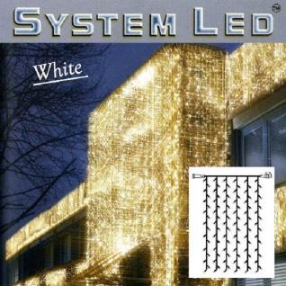 System LED Lichtervorhang 102er 1x2m cool light Kabel weiss 466-58