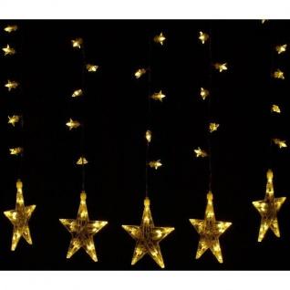 100er LED Lichtervorhang 5 / 25 Sterne warmweiß 60x55cm innen BI11524 xmas