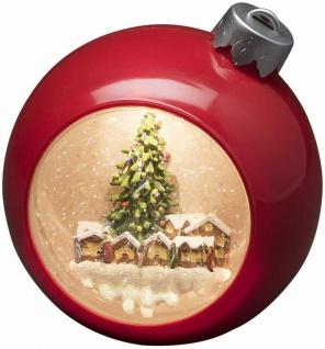 LED Weihnachtskugel Rot warmweiß wassergefüllt Batteriebetr. Konstsmide 4360-550