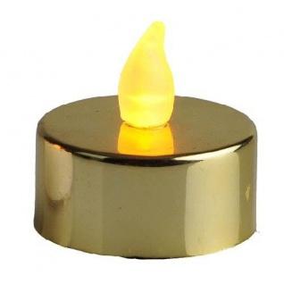 LED-Teelicht 2 Stück Teelichter gold metallic Best Season 066-05