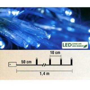 Micro LED Lichterkette 10er Batteriebetrieb blau Best Season 725-24