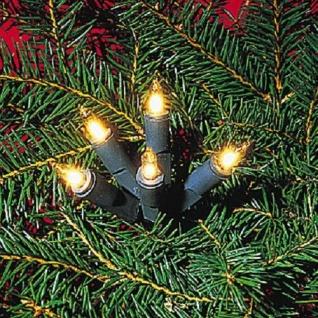 Mini-Lichterkette 50er Birnen klar / grün Ringkette 423-55