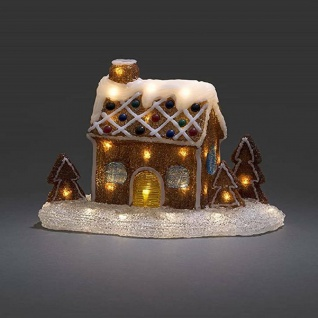 Acryl Szenerie Lebkuchenhaus warmweiße LED 24V Innentrafo Konstsmide 6252-103