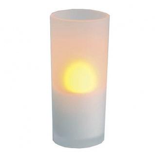 LED Windlicht flackernd an/aus pusten Glas 12cm Best Season 066-43