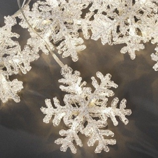 LED Acryl Lichtervorhang Schneeflocke 5er warmweiß Konstsmide 4436-103