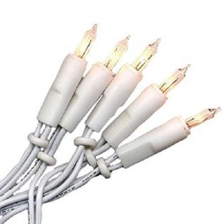 Mini-Lichterkette 100er Birnen klar / weiß Ringkette 424-48