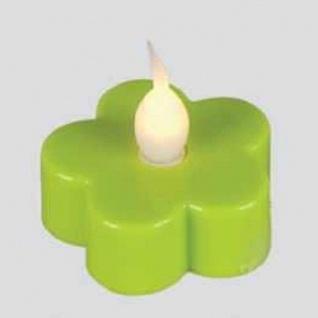 LED-Teelicht 3 Stück Teelichter Blüte grün Best Season 066-13