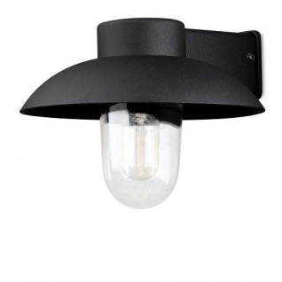 Alu Wandleuchte MANI schwarz mit klarem Glas Konstsmide 415-750