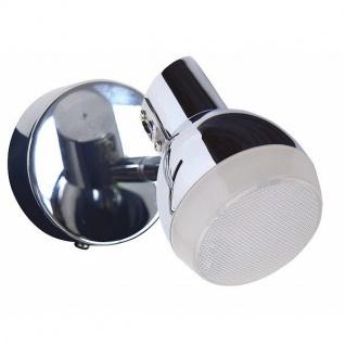LED Wandspot chrom 8x11x8cm 380lm 3000K 5W 1-flammig Näve 1164942