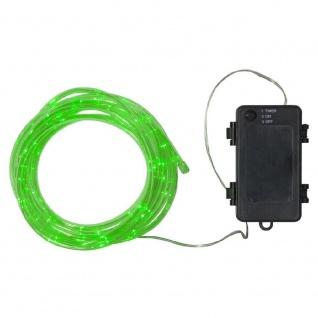 LED Mini-Lichtschlauch TUBY 5m grün Batterie Timer 857-22
