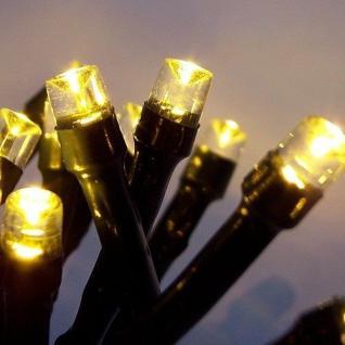 LED Lichterkette 200er warmweiß Kabel grün 18m außen BA11699 xmas