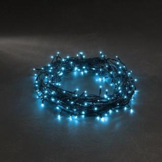 Micro LED Lichterkette 120er hellblau 8 Funktionen Konstsmide 3631-440
