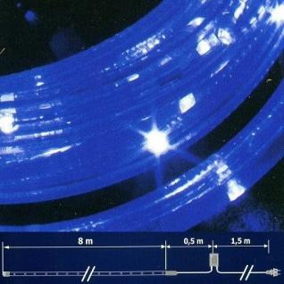LED Lichtschlauch Lichterschlauch 8m Blinkfunktion blau NLED08B