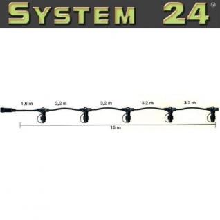 System 24 LED Verteilerkabel 15m extra schwarz 490-10 außen xmas