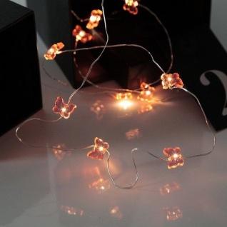 LED-Draht Lichterkette Schmetterling rosa 12er warmweiß Batterie 728-23