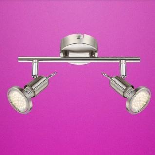 Globo LED Strahler Rail 2-flammig 2x250lm 3000K GU10 Nickel 54382-2