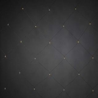 LED Lichternetz 32er warmweiß / schwarz gefrostet 1x1m Konstsmide 3778-100 xmas