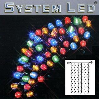 System LED Lichtervorhang extra 102er 1x2m bunt / schwarz 465-51