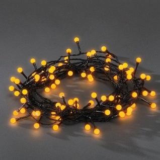 LED Globe-Lichterkette 80er gelb aussen 6, 32m Konstsmide 3691-007 xmas