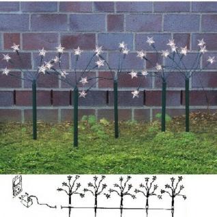 5er Set Gartenstecker mit Sterne 30 Dioden warmweiß 05214
