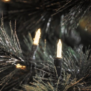 LED Mini-Lichterkette 20er warmweiß / grün aussen Konstsmide 6002-100