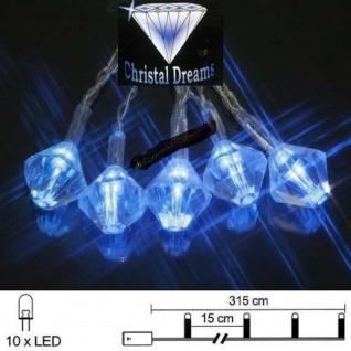 LED Lichterkette 10er Batteriebetrieb blau Diamant Best Season 007-01