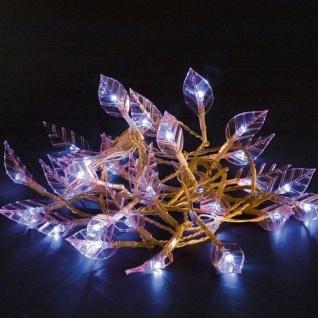LED Lichterkette Blätter / Kabel pink Dioden kaltweiß Konstsmide 4073-340