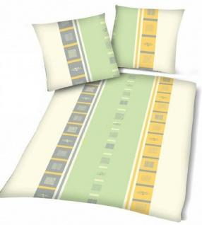 Microfaser Bettwäsche 135 x 200 cm Yellow Lines 2tlg Garnitur 017-0019
