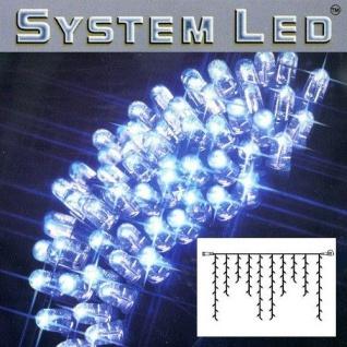 System LED Eisregen-Lichterkette Extra 2x1m 100er blau/schwarz 465-39