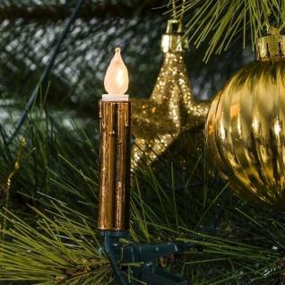 Weihnachtsbaumbeleuchtung 40er Lichterkette kupfer gefrostet 2336-600 innen xmas