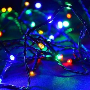 LED Lichterkette 200er bunt Kabel grün 20m aussen BA11700 xmas