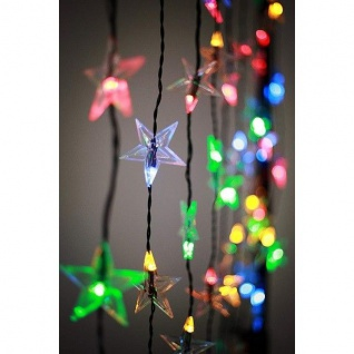 App gesteuerter LED Sternen-Lichtervorhang 1x1, 5m 60er warmweiß / bunt SA153