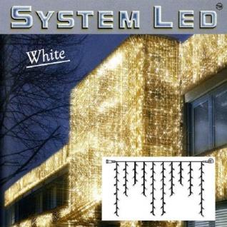 System LED Eisregen-Lichterkette 2x1m 100er warmweiß - weiß außen 466-36 xmas