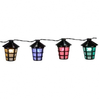 LED Party-Lichterkette10er Lampion Laterne bunt Best Season 476-21