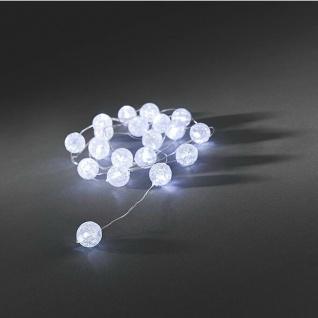 LED Deko Lichterkette 20er Schneekugel innen 2, 2m IP20 3xAA Konstsmide 3163-203