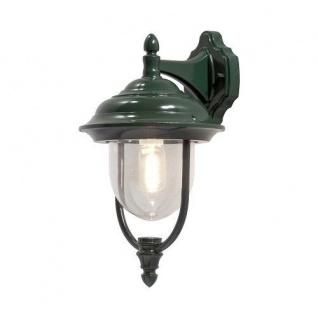 Alu Wandlleuchte PARMA grün E27 außen Konstsmide 7222-600