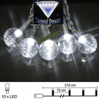 LED Lichterkette 10er Batteriebetrieb weiß Gem Best Season 007-20
