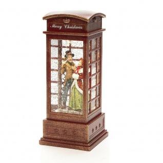 LED Telefonzelle Charles Dickens wassergefüllt Timer Konstsmide 4368-550 xmas