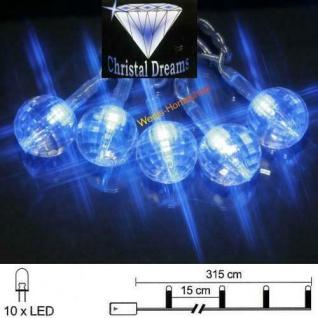 LED Lichterkette 10er Batteriebetrieb blau Gem Best Season 007-21