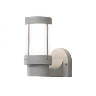 Alu Wandleuchte E27 mit Glas SIENA, grau außen Konstsmide 7513-302