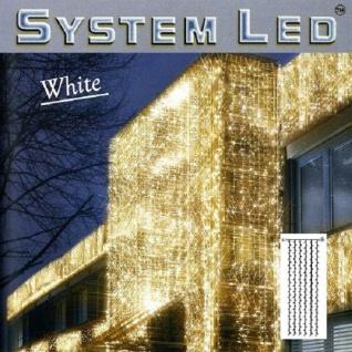 System LED Lichtervorhang 204er 1x4m cool light Kabel weiss 466-58-14