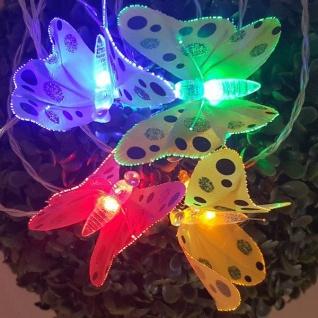 LED Fiberoptik-Schmetterling-Lichterkette 12er bunt Blachere A795C