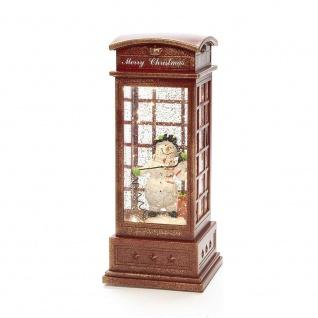 LED Telefonzelle mit Schneemann wassergefüllt Timer Konstsmide 4367-550 xmas