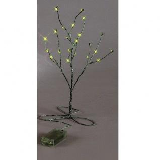 LED Minitree 30 x 15 cm grün Batteriebetrieb Best Season 725-53