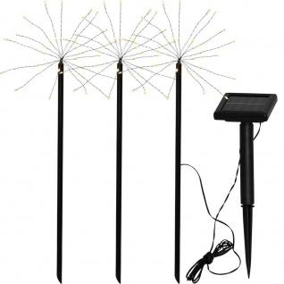 LED Solar-Stäbe FIREWORK schwarz 3x30er warmweiß 100x40cm außen 480-58